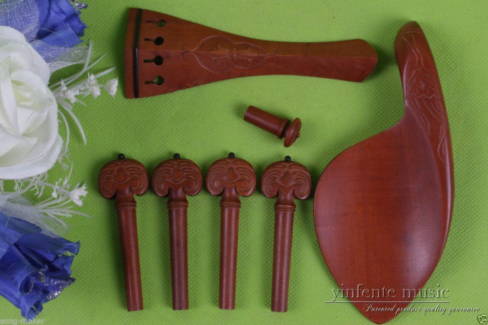 1 set 4/4 violin ebony parts,jujube wood tailpiece peg chinrest endpin #45 new 5 set 4 4 violin parts ebony tailpiece peg chinrest accessories e16