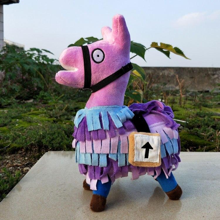 25cm Fortnite Troll Stash Llama Plush Toy Hot Game Soft Alpaca Rainbow Horse Stash Stuffed Doll Toys Kids Birthday Gift
