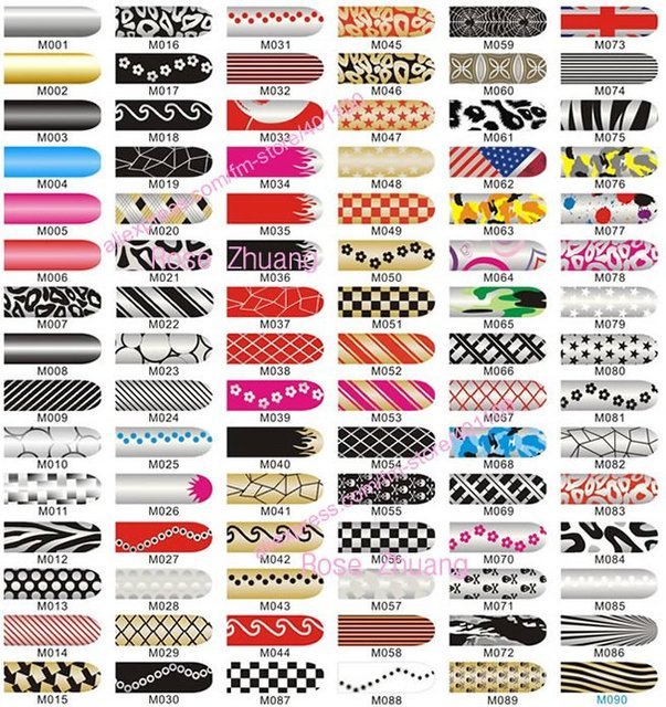 REESHIPPING--Fashion Nail Film Brilliance Shiny Self Adhesive Nail Sticker NEW MINX Nail Foil Patch Art Product  SKU:B0005