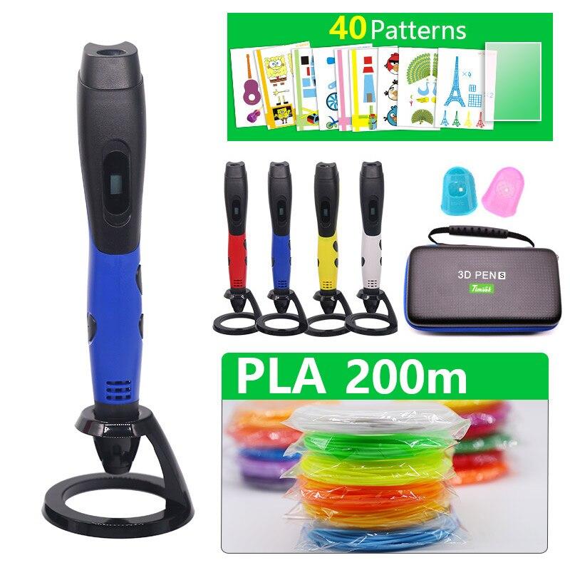 best sellers 3D PEN 3d printer pen usb 3D pen include 200m pal filament and 20