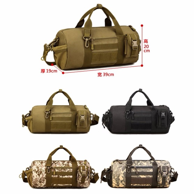 Protector Plus Tactical Bucket Bag Duffle Molle Hnadbag Gear Military Travel Carry On Shoulder Small