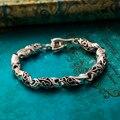 Homens pulseira Accessoires homens homme 2017 Tibetano prata pulseira retro jóias Pulseras Hombre de moda masculina do vintage