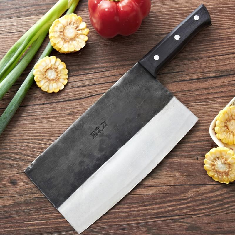 Free Shipping ZGX Kitchen Professional Chef Dual purpose font b Knife b font Forged Bone Meat