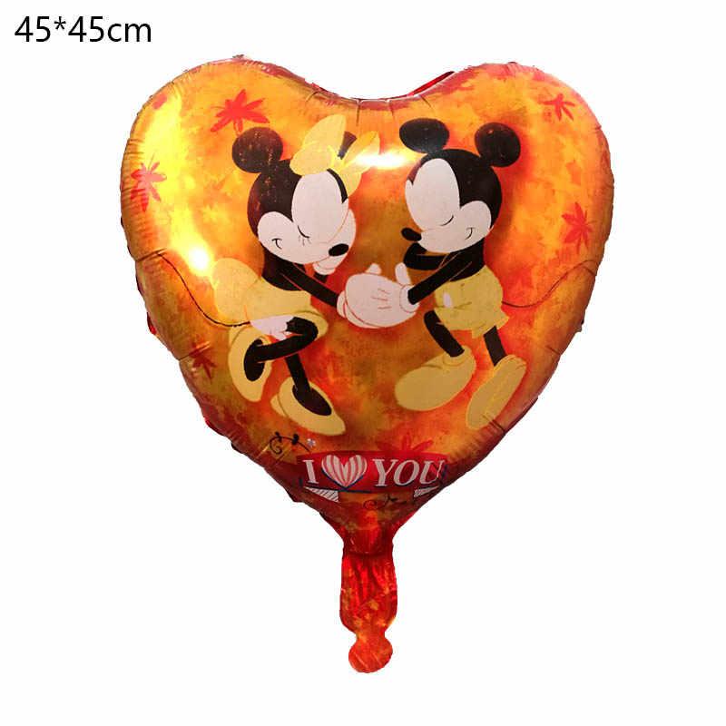 1 pc nowy serce Mickey Minnie miłość na zawsze balony z helem ślub/urodziny strona dekoracji nadmuchiwane balony dekoracyjne dla dzieci zabawki dla dzieci