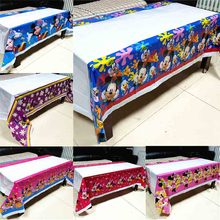 Mickey Mouse tablecloth เด็กวันเกิด PARTY Supplies Minnie Mouse ตารางผ้าอาบน้ำเด็ก Mickey Minnie ผ้าปูโต๊ะทิ้ง