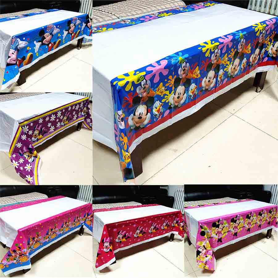 mickey mouse tablecloth kids birthday party supplies minnie mouse table cloth baby shower cartoon theme disposable tablecloth