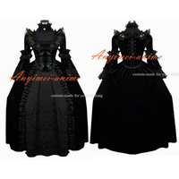 Victorian Rococo Medieval Gown Ball Outfit Gothic Punk Velvet Dress Cosplay Costume Tailor made[G547]