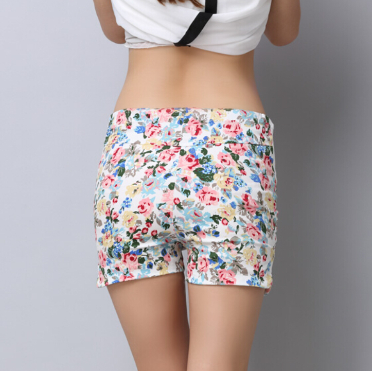 af6a6261ddd2e Cotton Maternity Shorts For Pregnant Women Fashion Flower Pattern Floral  Elastic High Waist Short Trousers SIZE(M XXL) DK012 -in Shorts from Women's  ...