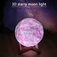 LED Starry Sky Moon lamp 15CM changeable 16 color
