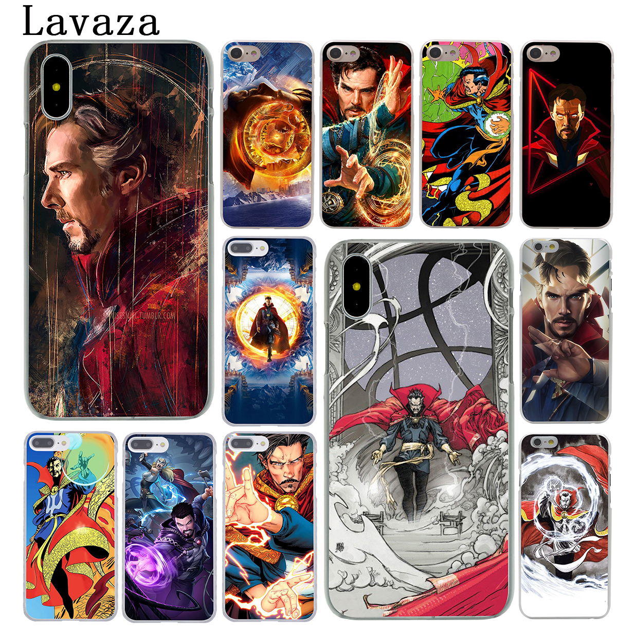 Lavaza Marvel The Avengers Infinity War Phone Case For Apple Iphone X Xr Xs Max 6 6s 7 8 Plus 5 5s Se 5c 4s 10 Doctor Strange Easy To Use Half-wrapped Case