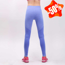 918869865fa9e Women Sports Tights Yoga Pants Running Leggings Gym Exercise Black Fitness  Workout Training Clothes Sliming Clothing