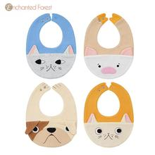 Baby Bibs & Burp Cloths saliva towel animal shape baby newborn bib rice bowl absorbent bib snap slobber
