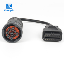 Deutsch J1939 9pin to 16pin OBD 2 Tuck Cable 9 pin 16 PIN Female 1ft/0.3m