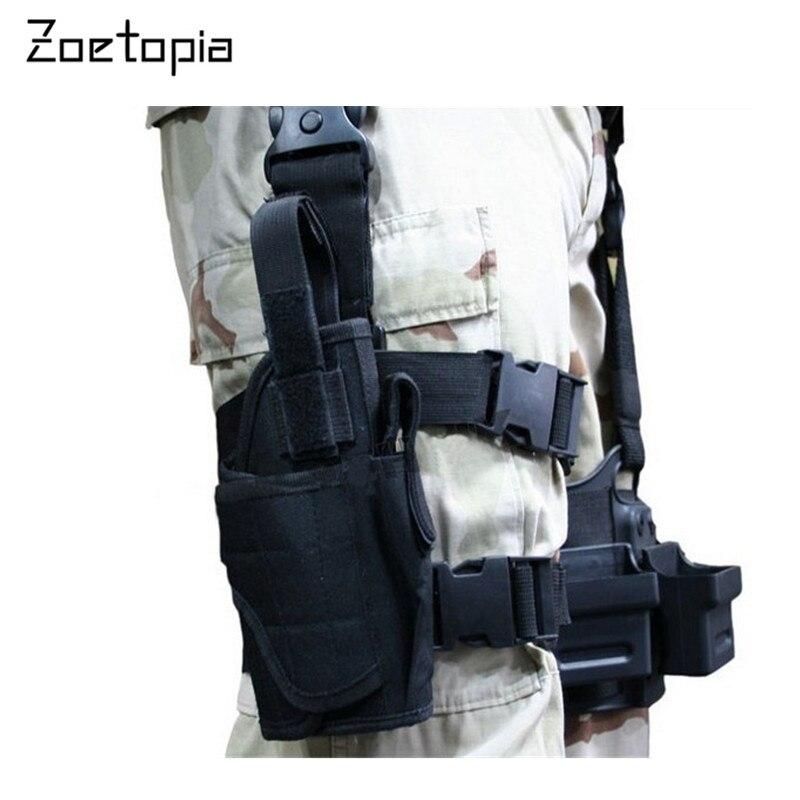 Prix pour Nylon Tactique Taille Pack Mini Militaire Longue Ceintures Fanny Pack Velcro Poche Poches Extérieure Armée Sport Fonctionnelle Cuisse Jambe Pack