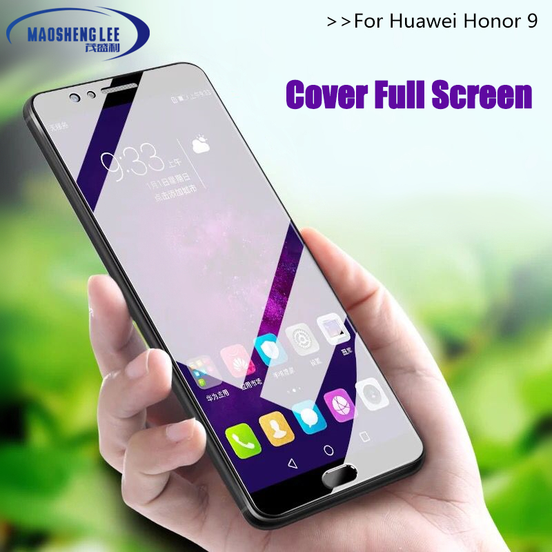 Full Cover Tempered Glass For Huawei Honor 9 Screen Protector 2.5D 9h Hardness Tempered Glass For Huawei Honor 9 Glass 5.15''