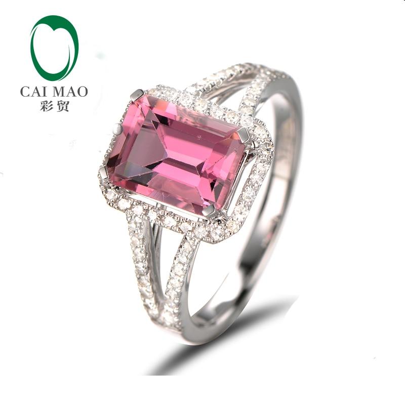Engagement Rings Sale Price: Aliexpress.com : Buy 1.46ct Emerald Cut Tourmaline Halo H
