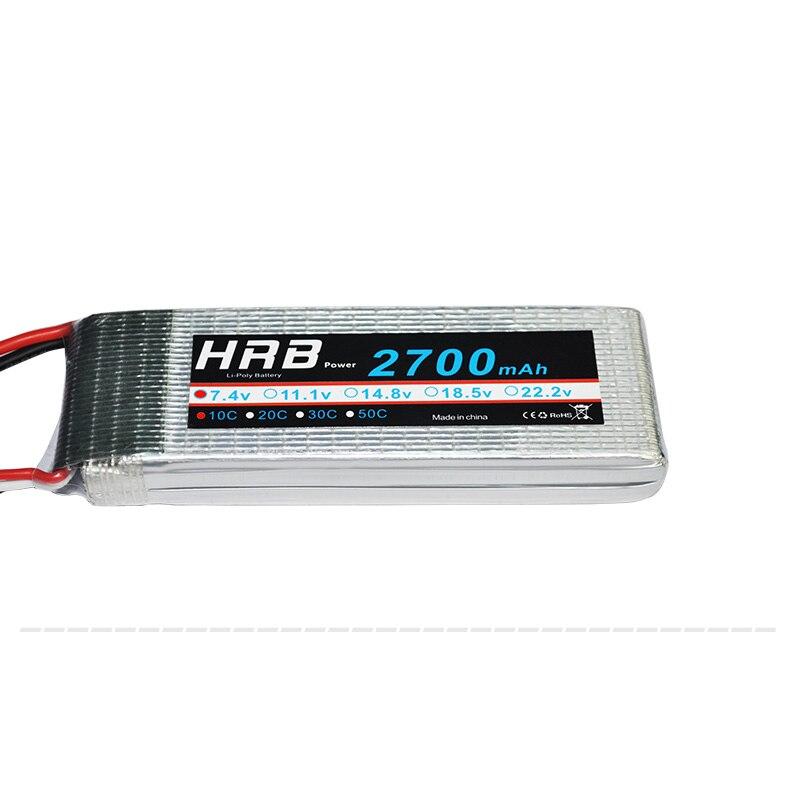 HRB 2S 7.4V 2700mAh 10C Lipo