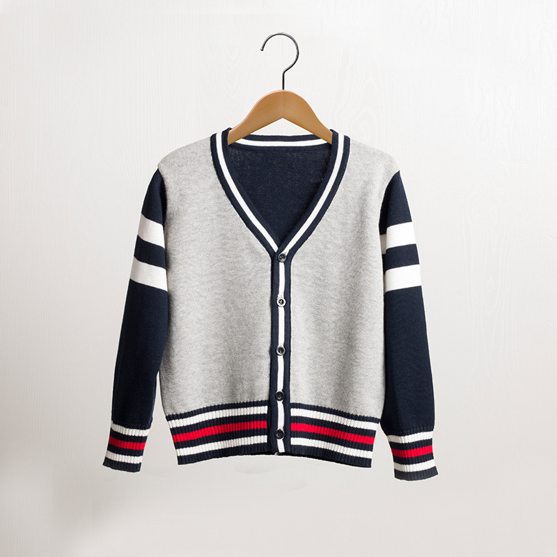 cotton line boy sweater baby line clothing brand childrens autumn long sleeve Cardigan button clothes