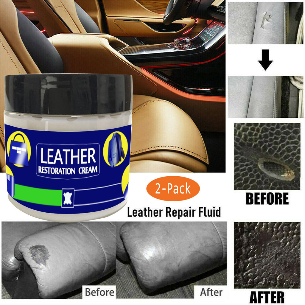 US $5.89 40% OFF|2x Reconditioning Leather Cream Vinyl Repair Kit Auto Car  Seat Sofa Coats Holes Leather Repair Filler 100g-in Leathercraft Tool Sets  ...