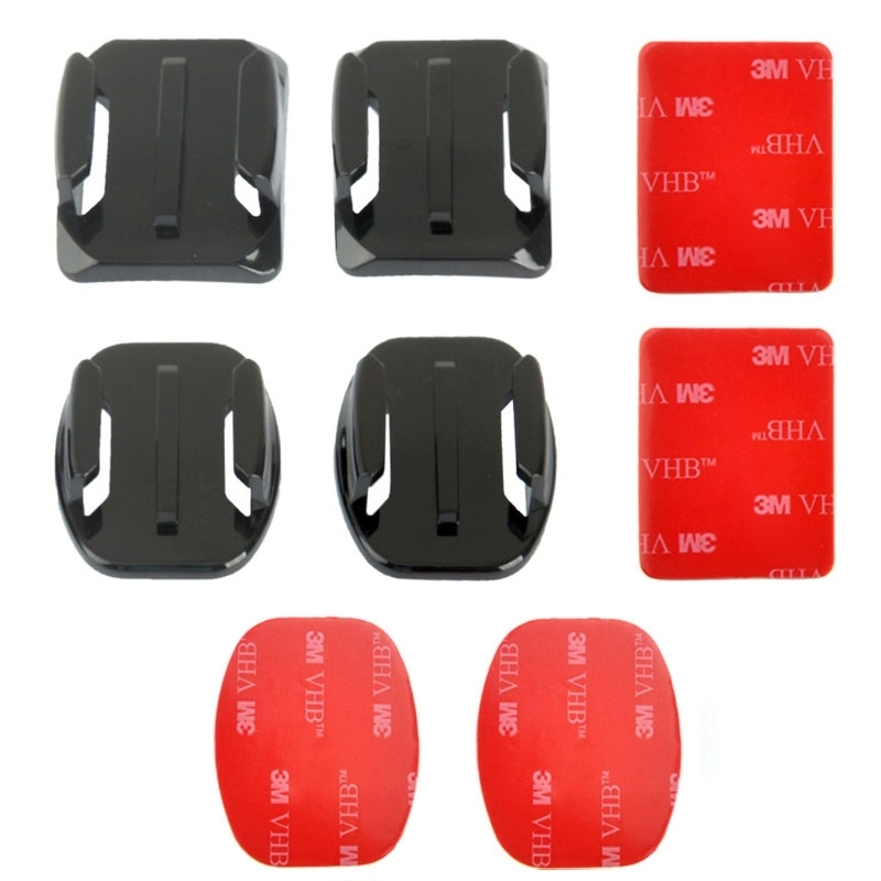Camera Accessories 2 Curved Surface Mounts 2 Flat Surface Mounts 4 Mount Stickers Adapter for GO Pro GoPro HERO4 3+ 3 2 1 Xiaoyi