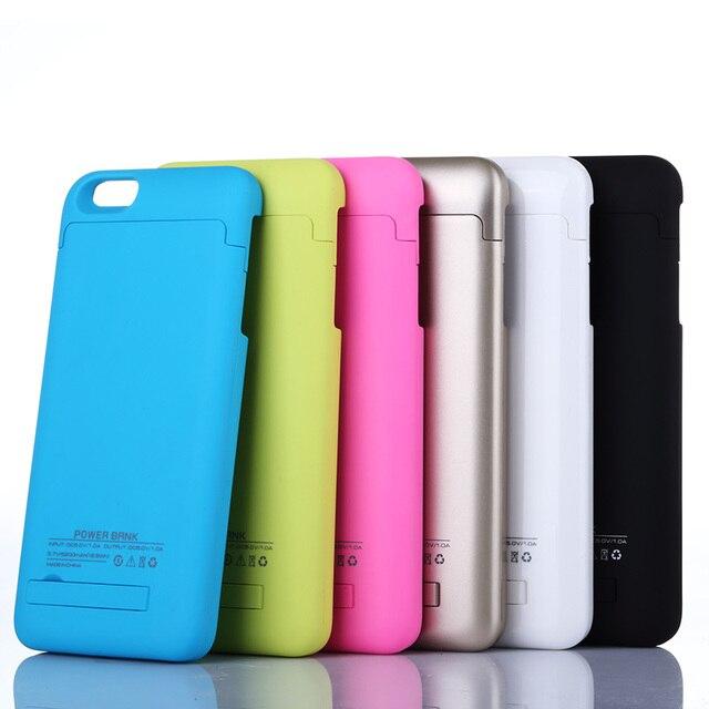 Настоящее 4000 мАч Аккумуляторная Резервного Питания Чехол Для Apple iPhone6 6 sPlus Внешнее Зарядное Устройство Power Bank Дело 6 Цвета