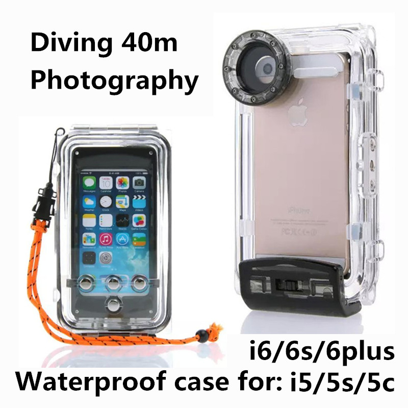 40m Diving Waterproof cover for iphone 6 case underwater