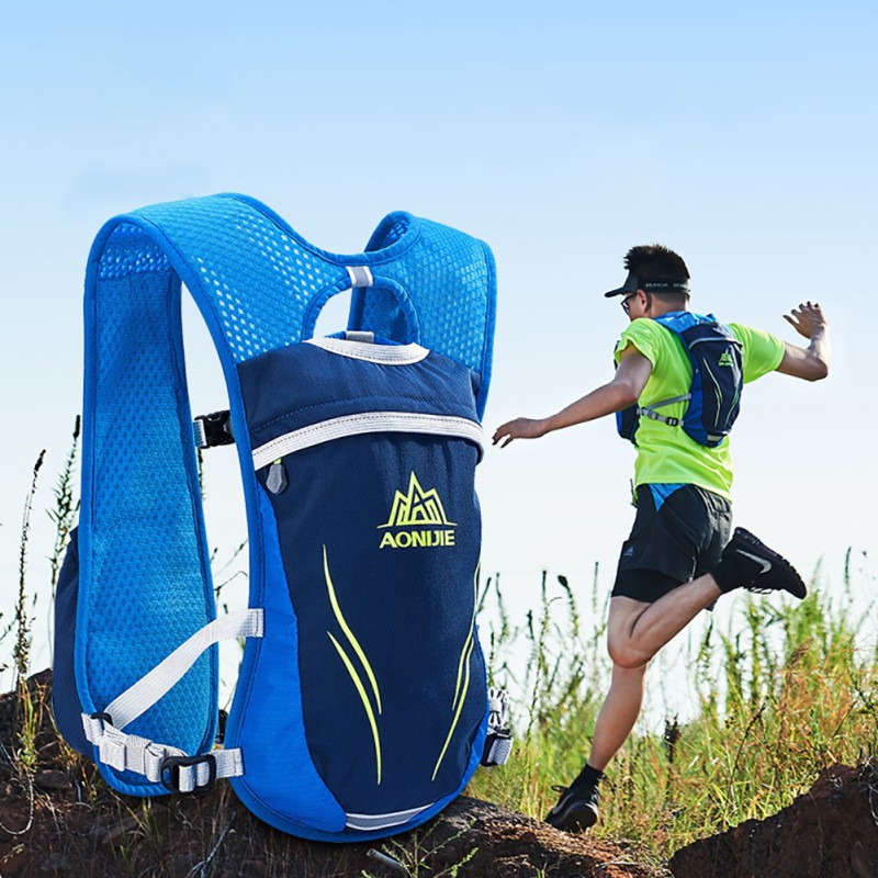 Hot Sale Running Backpack Vest Marathon Hiking Pack Jogging Trail Running Cycling Bag With 2Pcs Water Bottle