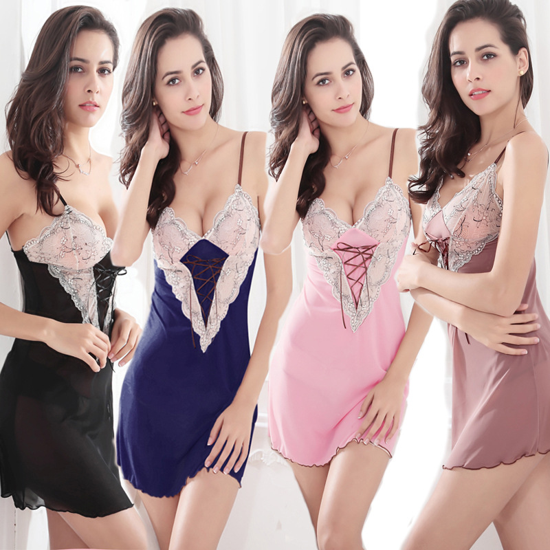 Free Shipping Women's Sleep Lounge Robe Gown Sets   Nightgowns     Sleepshirts   Sexy Lingerie Intimates Dress Women Underwear Sleepwear