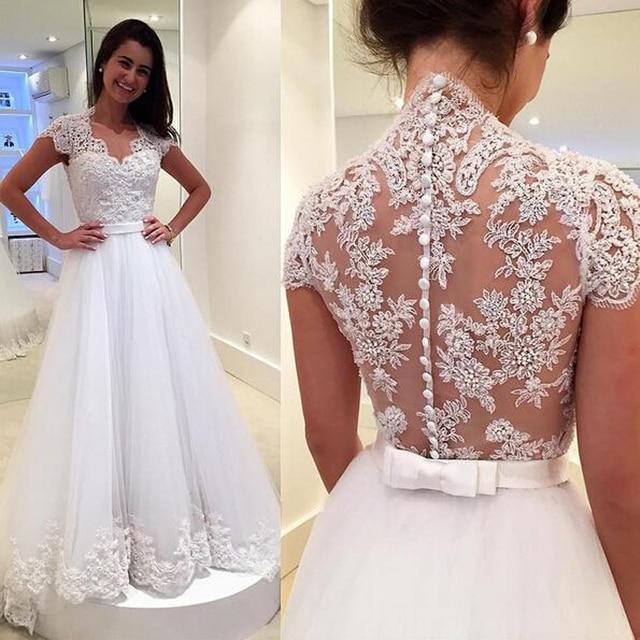 Lange Vintage plus Größe Flügelärmeln Brautkleider 2015 Vestido De ...