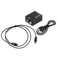 Digital Optical Coaxial Toslink Signal To Analog Audio Converter Adapter Free Optical Toslink Cable And