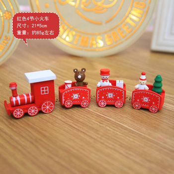 new Christmas train painted wood with Santa/bear Xmas kid toys gift ornament navidad Christmas Decoration for home new year gift 2