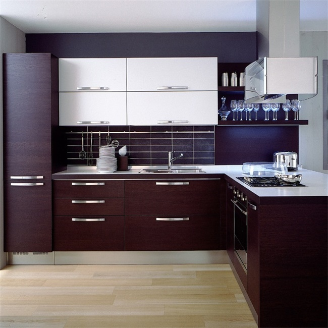 High gloss Lacquer home furniture kitchen cabinet U shaped HPL Kitchen Cabinets