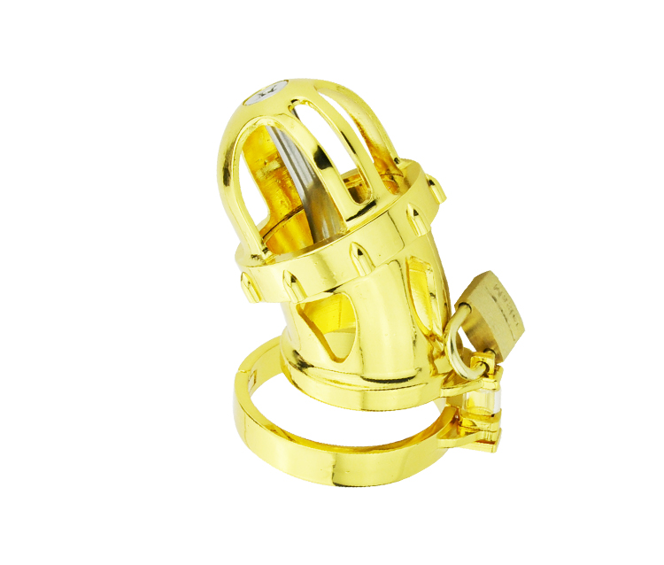 ФОТО new gloden Zinc Alloy male chastity device cock cage with urethral sound urethral dilation metal cock ring sex toys for man