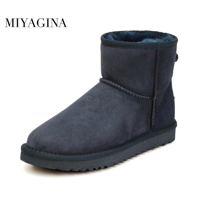 1533ec5a7e7b5 MIYAGINA High Quality Hot Sale Women Snow Boots Winter Warm Boots Genuine  Sheepskin Leather 100%