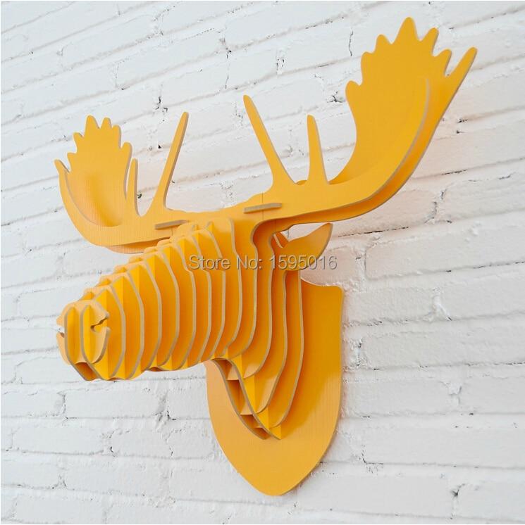 Reindeer head ornament,wall decor,wood wall hangings,DIY crafts ...
