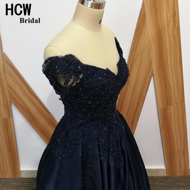 Navy sinine õhtukleit beaditud pitsiga satiin joonega pikk ametlik - Eriürituste kleidid - Foto 5