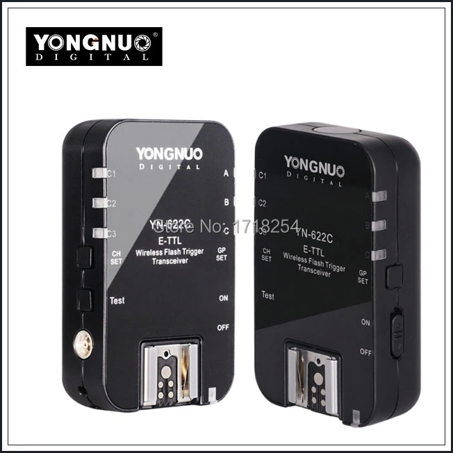 Yongnuo YN-622C YN 622 Wireless ETTL HSS 1/8000S Flash Trigger 2 Transceivers for Canon 1100D 1000D 650D 600D 550D 7D 5DII 50D yongnuo yn 622c yn 622 wireless ettl hss 1 8000s flash trigger 2 transceivers for canon 1100d 1000d 650d 600d 550d 7d 5dii 40d