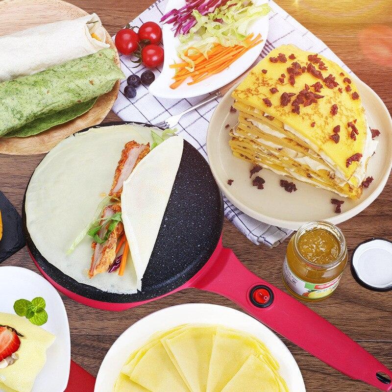 Crêpière électrique Pizza plaque de cuisson rouleau Machine plaque de cuisson antiadhésive plaque de cuisson gâteau Machine cuisine outil de cuisson 220 V