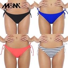 M& M женский сексуальный мини купальный костюм с бикини с галстуком сбоку закрытый Купальник микро бикини набор доска короткие плавки B612