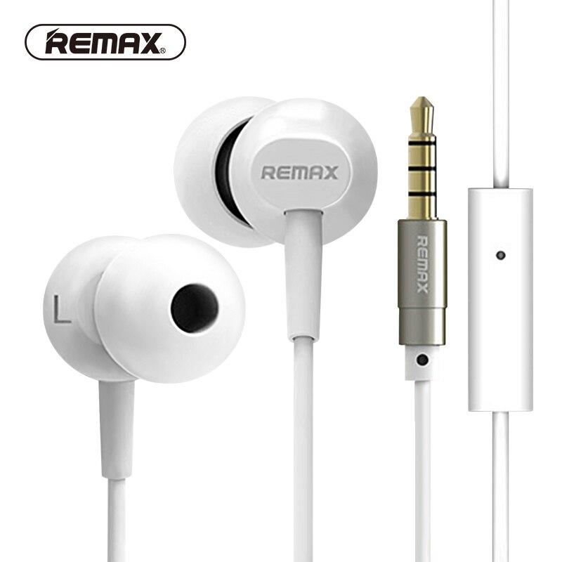 REMAX BASE-DRIVEN filaire écouteurs Hifi basse bruit réduire écouteur Audio Stéréo écouteurs confortables avec HD MIC pour téléphone/MP3