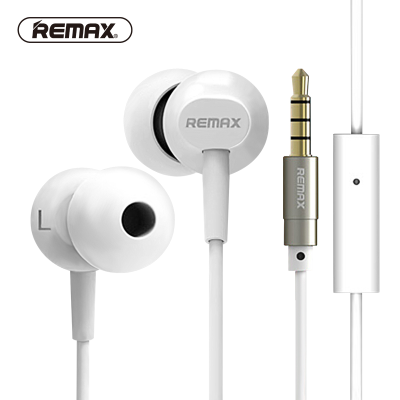 REMAX BASE-DRIVEN wired earphones Hifi bass noise reduce earphone Stereo Sound comfortable earbud with HD MIC for phone/MP3