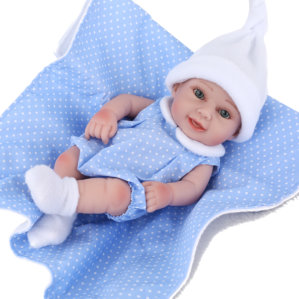 Dolls & Stuffed Toys Npkdoll 10 Baby Reborn With Silicone Body Little Doll Childrens Toys For Girls Education Princess Doll Birthday Child Girl