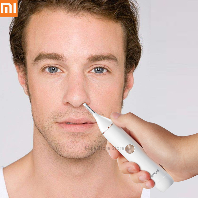 XIAOMI Mijia Soocas Nose Hair Trimmer Eyebrow Ear Hair Shaver Clipper Sharp Blade Waterproof IPX5 Clean Tool for Men Women H31#