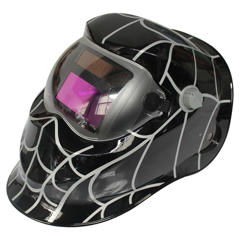 Gewissenhaft Bhts-2018 Neue Pro Solar Schweißer Maske Auto-verdunkelung Schweiß Helm Unregelmäßigen Spinne Web Elegant Im Geruch