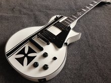 INstock Custom ESP LTD Iron Cross SW James Hetfield Signature Electric Guitar EMG Snow White(China)