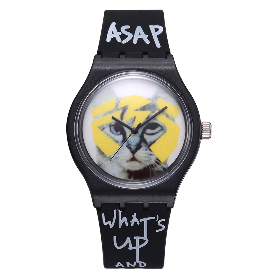 Fashion 2018  Creative Students Quartz Watches Simple Cool Cartoon Cat Sport Dial Boyfrined StyleWristwatch Dropshipping  LS1094