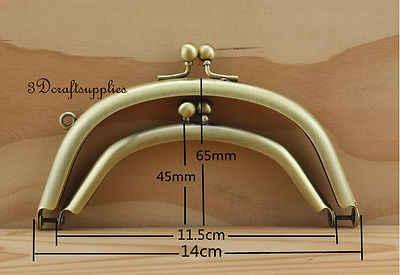 Doppel geldbörse rahmen kleber auf verschluss clip anti bronze 5 1/4 zoll x 2 1/2 zoll Z104