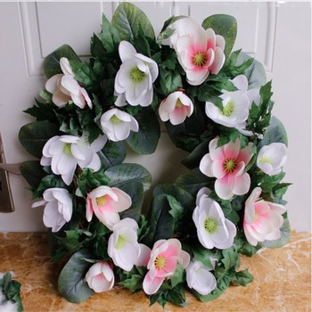 Handcrafted yulan garlands large 55cm imitation flower door decoration decoration wholesale  Free Shipping