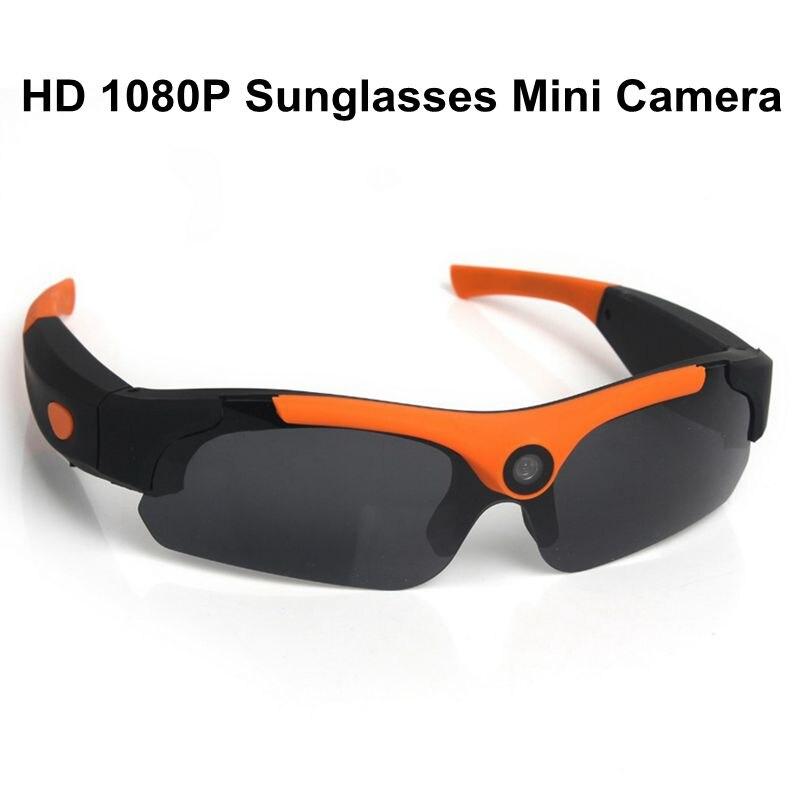 HOT HD 1080P Sunglasses Mini Camera Wide angle 120 degrees Black Orange Mini DV Camcorder DVR