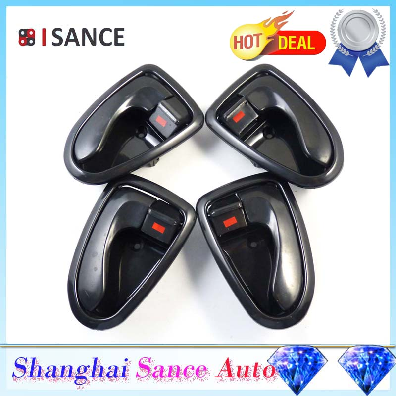 Isance Inner Inside Interior Door Handle Front Rear Left Right Side Set For Hyundai Accent